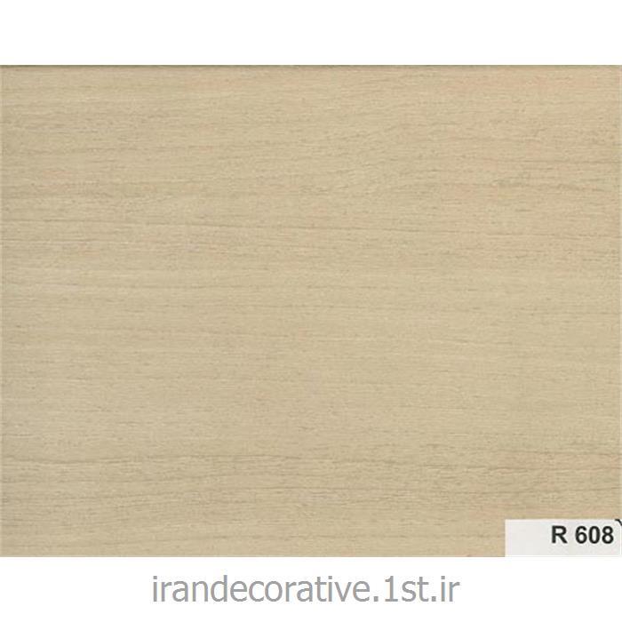 دیوار پوش کد R 608 رنگ کرم قهوه ای با رگه های چوبی