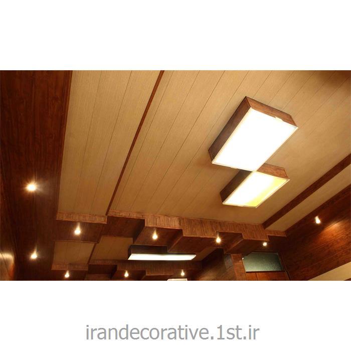 طراحی اتاق مدیر فضای اداری(ایران دکوراتیو) با دیوارپوش pvc، آذران پلاستیک رنگ پانل کرم و قهوه ای