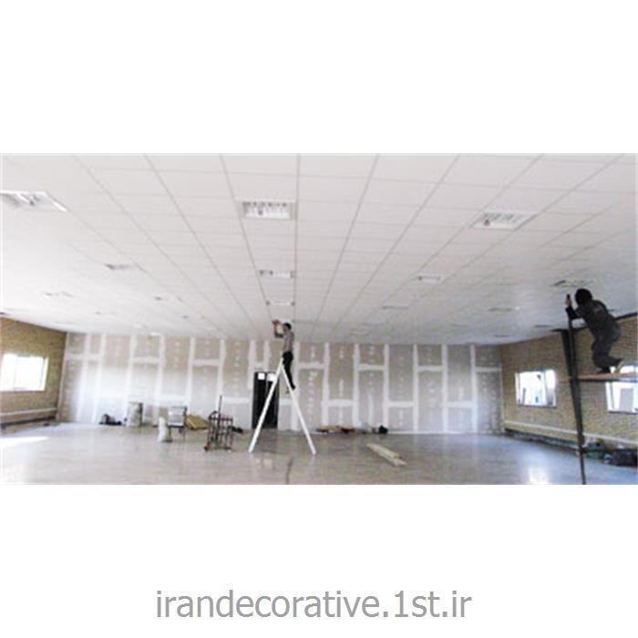 دیوارپوش وسقف پوش پانل pvc آذران پلاستیک و دیوار کاذب و سقف کاذب 60*60 کناف در طراحی و دکوراسیون نمایشگاه ها