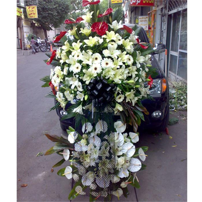 عکس شاخه گل تازهتاج گل آنتوریوم،لیلیوم،رز هلندی،ژربرا،مدل 105