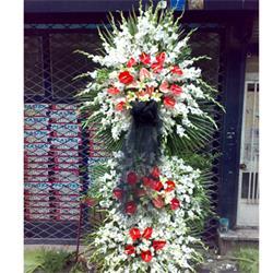 عکس شاخه گل تازهتاج گل ، آنتوریوم ، لیلیوم ، گلایل ، لیسین توس ،مدل 106