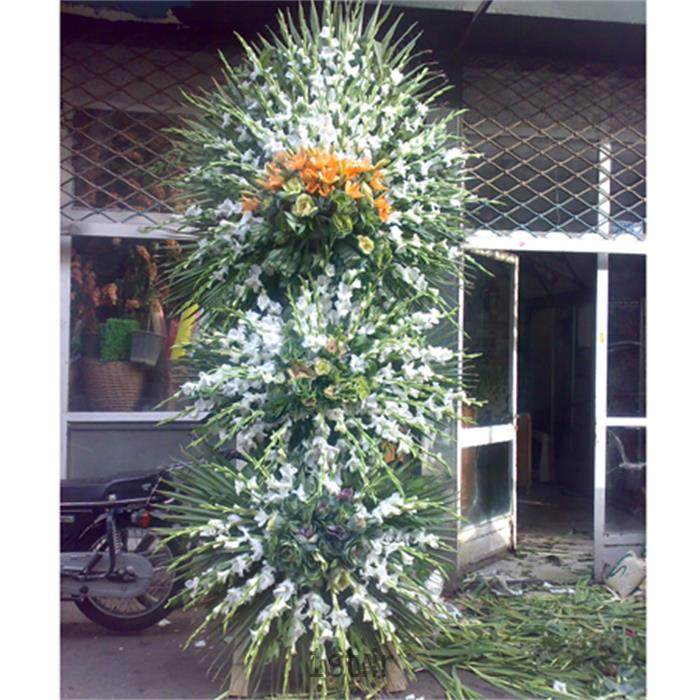 عکس شاخه گل تازهتاج گل ، گلایل ، لیلیوم ، کلم ، مدل 101