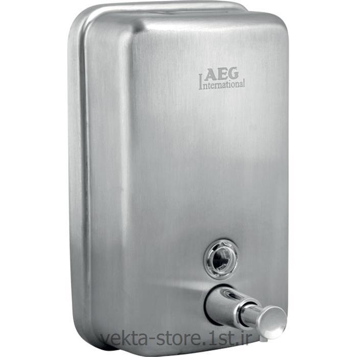 عکس صابون ریز و جای مایع دستشوییجا مایع استیل پمپی مدل 070-AEG