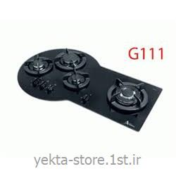 گاز 3 شعله شیشه ای توکار اخوان کد G111