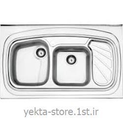 عکس سینک آشپزخانهسینک ظرفشویی اخوان روکار کد 144