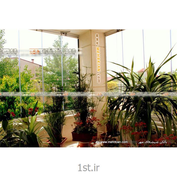 گلخانه شیشه ای مهر (پارتیشن شیشهای متحرک مدل آکاردئونی)