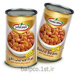 کنسرو خوراک لوبیا چیتی با قارچ بندر عباس