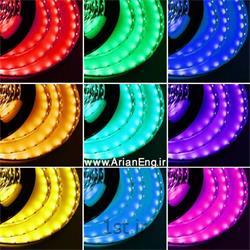 عکس  نوار ال ای دی ( LED Strips ) نوار ال ای دی استریپ مالتی کالر 5 متری ( Strip LED )