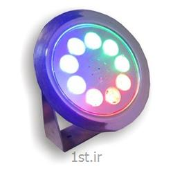 عکس چراغ روشنایی خیابانیپروژکتور LED ضد آب توکار ( IP68 ) مالتی کالر