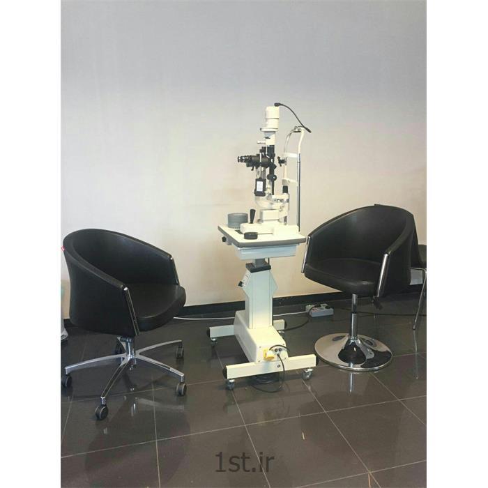 عکس تشخیص و درمان دردمعاینه فوق تخصصی کامل چشم با slit lamp