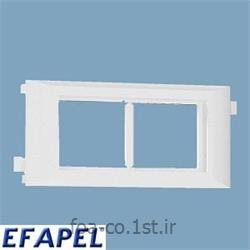 عکس کلید و پریز برقفریم پریز چهار ماژول 45*45 درب 60 - 10951ABR ایفاپل(EFAPEL)