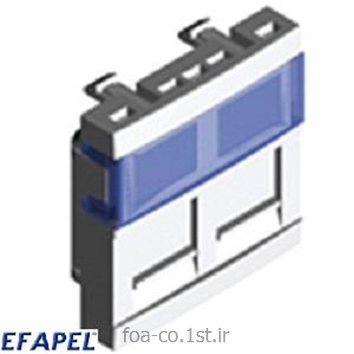 عکس سایر سخت افزارهای شبکهفیس پلیت ایفاپل EFAPEL Face plate 45971SBR