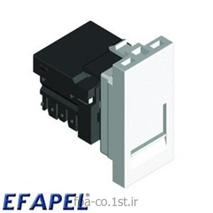 عکس سایر سخت افزارهای شبکهپریز شبکه Cat.6 سری 45 - 45978SBR ایفاپل(EFAPEL)