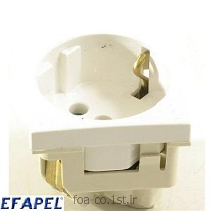 پریز برق ارت شوکو سفید سری 45 -45131SBR ایفاپل(EFAPEL)
