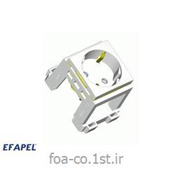 پریز برق ارت شوکو سفید سری 45 - 45131SBR ایفاپل(EFAPEL)
