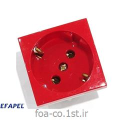 پریز برق ارت شوکو قرمز سری 45 - 45131SVM ایفاپل(EFAPEL)