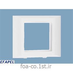 فریم پریز دو ماژول 45*45 درب 60 - 10986ABR ایفاپل(EFAPEL)
