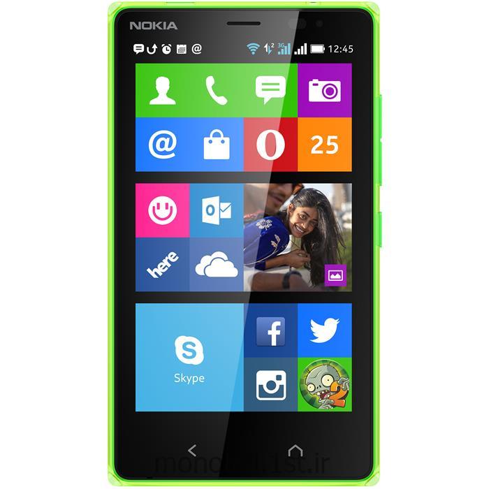 عکس تلفن همراه ( موبایل ) گوشی نوکیا صفحه لمسی (تاچ اسکرین Touch Screen) دو سیم کارته مدل ایکس2(nokia x2)