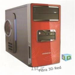 عکس کیس کامپیوترکیس فیورا مدل سه بعدی قرمز - Fiora Case 3D Red