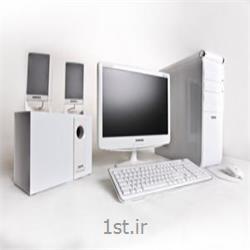 عکس کامپیوتر رومیزی (دسکتاپ)پکیج سفید سبرا سری اسنو تاچ - Sebra Snow Touch Desktop PC