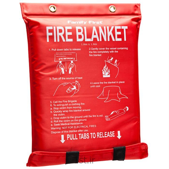 عکس پتوی آتش نشانی (فایر بلانکت - ضد حریق)پتوی ضد حریق در سایز 1/2*1/2