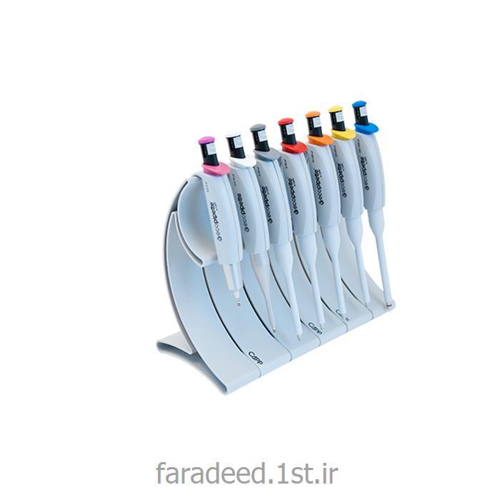 عکس پیپتسمپلر آزمایشگاهی تک کاناله ثابت دارای ست سه تایی ولوم کنترلر در حجمهای ul 1,5,10 کمپانی CAPP دانمارک