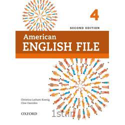 کتاب و سی دی آموزش زبان انگلیسی American English File 4 Second Edition