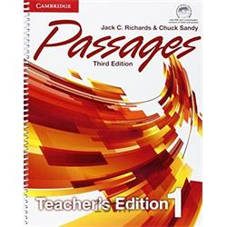 کتاب و سی دی آموزش زبان انگلیسی Passages 1 Teacher's Book 3rd Edition