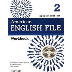 کتاب آموزش زبان American English File 2 Workbook 2nd Edition
