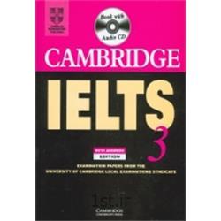 کتاب زبان انگلیسی Cambridge IELTS 3 + CD