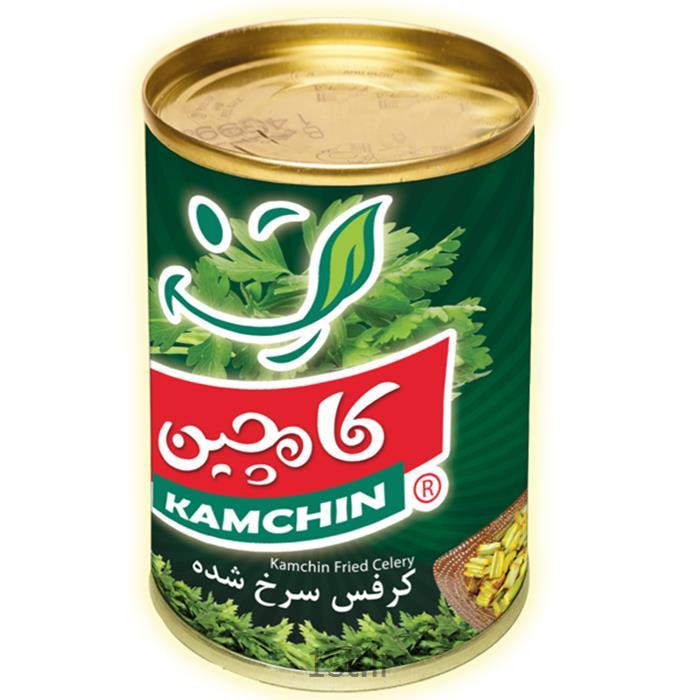 عکس کنسرو سبزیجاتکنسرو کرفس سرخ شده 4 کیلوگرمی کامچین