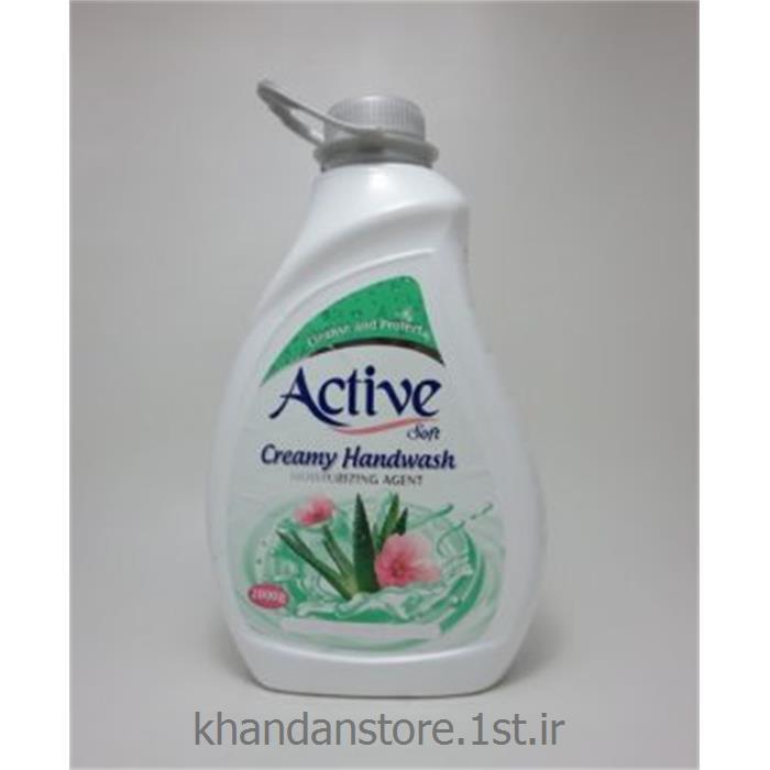 عکس شوینده و پاک کننده هامایع دستشویی کرمی 2 لیتری اکتیو