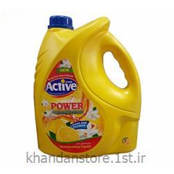 عکس مواد شوینده و پاک کنندهمایع ظرفشویی 4 لیتری اکتیو