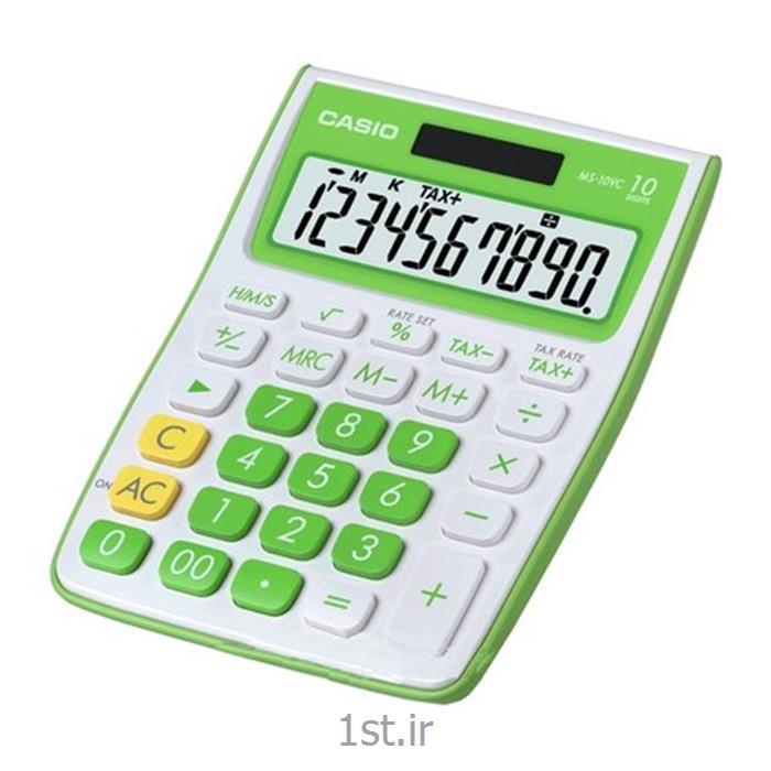 عکس ماشین حسابماشین حساب کاسیو مدل MS-10VC-GN