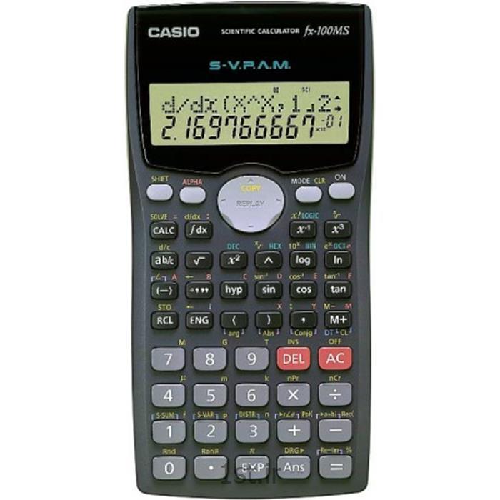 عکس ماشین حسابماشین حساب کاسیو مدل fx-100MS