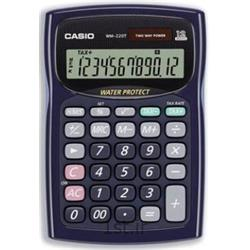 عکس ماشین حسابماشین حساب ضد آب کاسیو مدل CASIO WM-220T