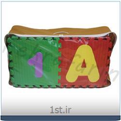 عکس سایر کفپوش هاکفپوش آموزشی حروف و اعداد لاتین فومی