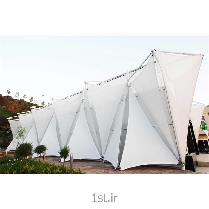 عکس سازه چادری نمایشگاهینمای چادری