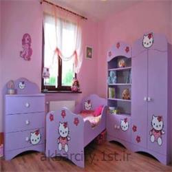 طراحی سرویس خواب اتاق کودک به رنگ یاسی