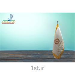 پرچم رومیزی ساتن چاپ سیلک ابعاد 30*20