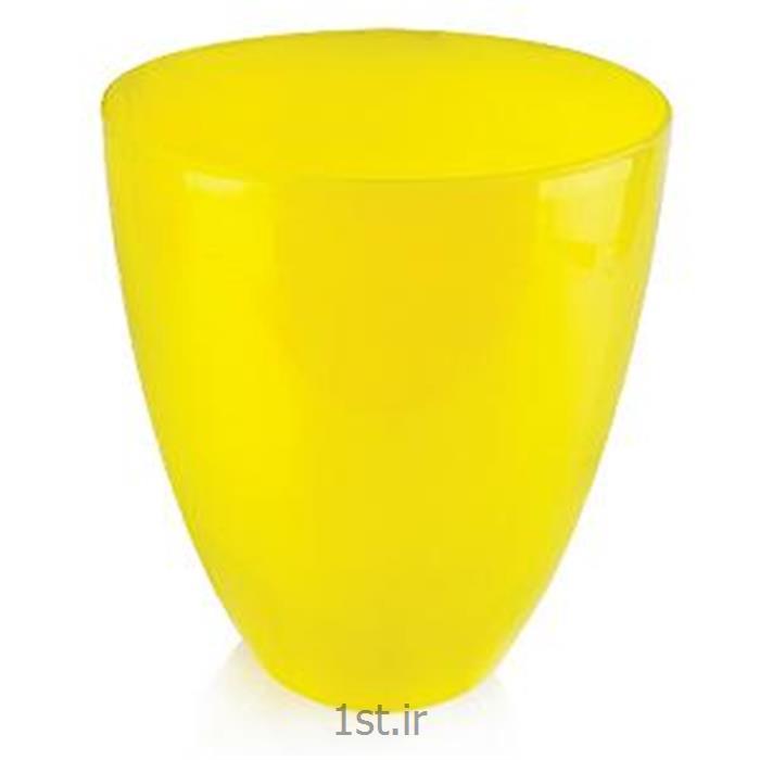 سطل باران پلاستیکی زرد