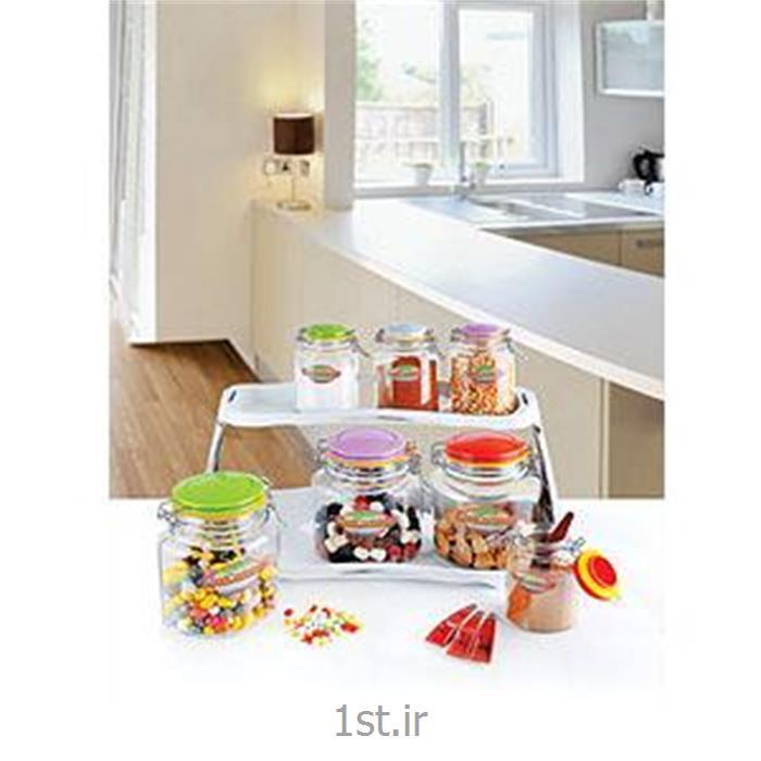 عکس مجموعه ( ست ) لوازم آشپزیدو طبقه بیضی چفتی رنگین کمان