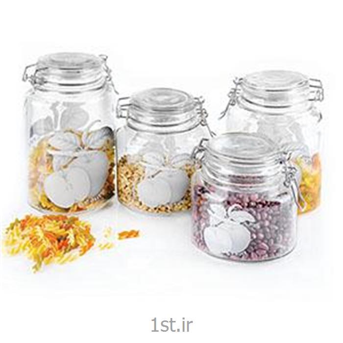 عکس مجموعه ( ست ) لوازم آشپزیبانکه های بیضی چفتی سیب نقره ای