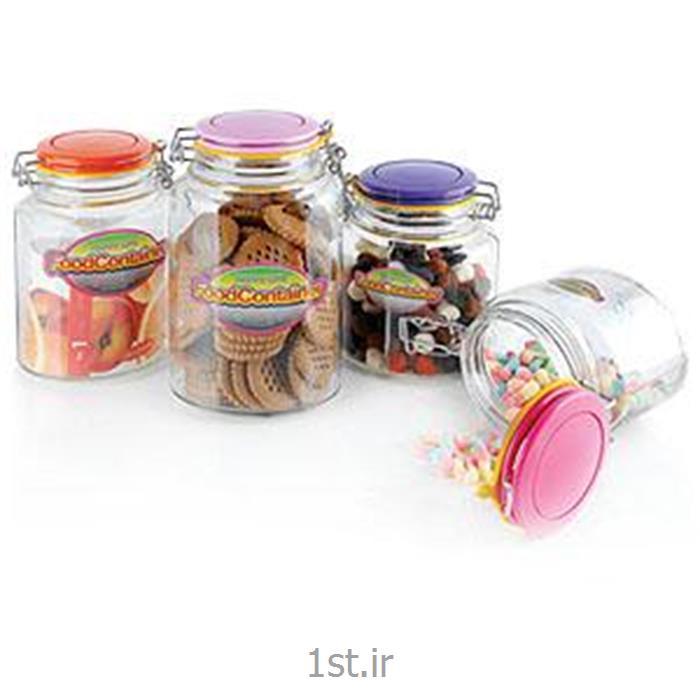 عکس مجموعه ( ست ) لوازم آشپزیبانکه های بیضی چفتی رنگین کمان