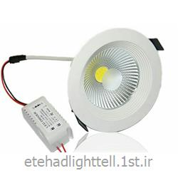 عکس چراغ سقفی توکارپنل cob توکار گرد 9 وات مدل spot light
