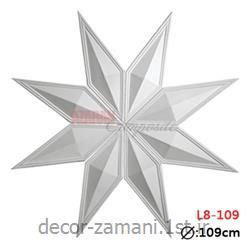 گل سقف لوزی L8-109 (گچبری پلی یورتان آذران کامپوزیت)