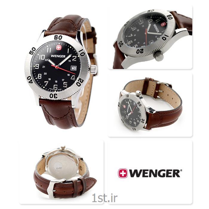 ساعت مچی بند چرم مردانه ونگر سوئیس (Wenger) مدل ۷۲۹۶۵<