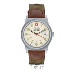 عکس ساعت مچیساعت کلاسیک مردانه بند چرم-برزنت ونگر (Wenger) مدل ۷۲۹۰۱، ساخت سوئیس