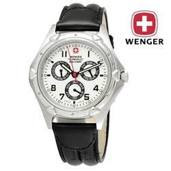 عکس ساعت مچیساعت مچی بند چرم مردانه ونگر سوئیس (Wenger) مدل ۷۹۰۱۷