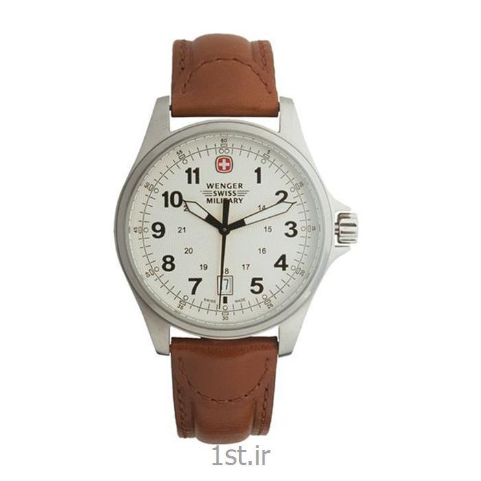 ساعت کلاسیک مردانه بند چرم ونگر (Wenger) مدل ۷۹۲۰۱، ساخت سوئیس